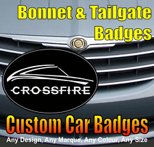 Chrysler Crossfire Grille et Hayon badges (noir/chrome)