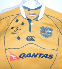 Australian Rugby Union Wallabies Team Replica Jersey Canterbury Qantas Medium
