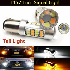 2X 1157 BAY15D 2835 42-SMD Dual Color Switchback DRL Turn Signal Light LED Bulbs