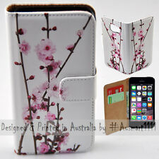 Wallet Phone Case Flip Cover ONLY for iPhone 5 / iPhone 5S - Cherry Blossom Tree