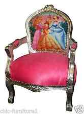 Childrens Character Novelty Disney Furniture Silver & Pink Wooden Carved Chair