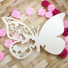50 Platzkarten Schmetterling ans Glas Tischkarten Namenskarten Hochzeit Deko