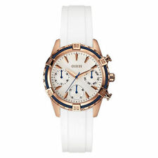 GUESS WATCH for Women * Rose Gold Case * White Silicone Band/Dial * U0562L1