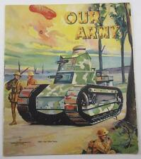 OUR ARMY 1919 CHILDRENS ILLUS BOOK CHARLES E GRAHAM WORLD WAR ONE TANK COVER