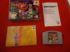 Banjo-Kazooie (Nintendo 64, 1998) N64 COMPLETE w/ Box manual game WORKS! #N1