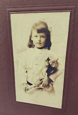 Antique Cabinet Photo Little Girl & Her Doll Vancouver BC Id'd on back