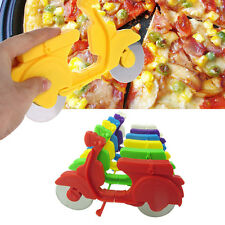 Novelty Pizza Cutter Saw Bicycle Bike Slicer Stainless Kitchen Tools New