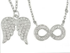 Bella Luce (R) 1.44ctw Sterling Silver Infinity Design & Angel Wing Necklace Set