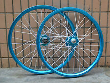 20'' Bicycle Wheelset MTB BMX Disc Brake 406 NOVATEC Hubs F/R Wheels Rim Blue