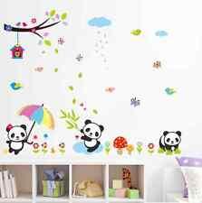 Panda Bamboo Flower Owl House Child Room Wall Sticker Decal Vinyl Art