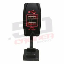 Dual Port USB Outlet 5V Marine Boat Bayliner Sea Ray Chaparral Baja Cobra RED