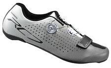 Shimano 2017 SH-RC7 Carbon Road Cycling Bike Shoes White Wide Width 43E (US 8.9)