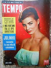 #tempo 1957 cover scilla gabel julinho rivista italian magazine#