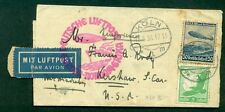Germany, 1936 No. America Flight w/50pf + 5pf on Wrapper which is quite scarce,