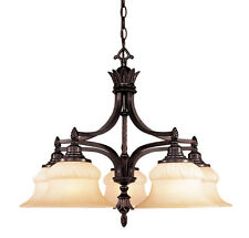 1-1806-5-59 Savoy House Lighting Rex Hall 5 Light Chandelier With Glass Shades