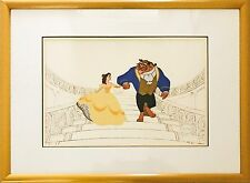 Walt Disney Beauty and the Beast Serigraph Cel - On Staircase