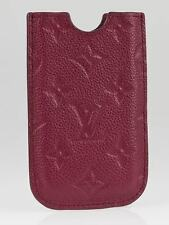 Authentic Louis Vuitton Aurore Monogram Empreinte Leather iPhone 4 4S Soft Case