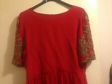 Beautiful Red Topshop Limited Edition Beaded Embellished Sequin Dress Size 10