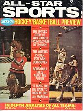 1973-74 All-Star Sports Hockey/Basketball magazine, Ken Dryden, Jerry Lucas ~ Fr