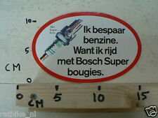 STICKER,DECAL BOSCH SUPER BOUGIES IK BESPAAR BENZINE, DECAL IS DAMAGED