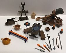 Playmobil Medieval Knight Castle Accessory Lot 2 Weapon Wheelbarrow Furniture