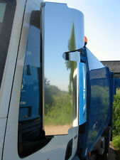 DAF LF Euro 5 & 6 (2007 on) Stainless Steel Mirror Guards. Truck Mirror Guards