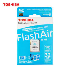 32GB Toshiba Flashair III W03 Wireless WIFI SD SDHC 32GB Class10 Memory Card New