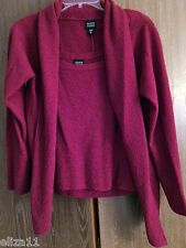 NWT $306 EILEEN FISHER SWEATER CAMI TWINSET BERRY RED WITH PIN - SMALL
