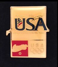 Fencing Olympic Pin Badge~USA Fencing Team~1992~Barcelona~Sponsor: Coca Cola