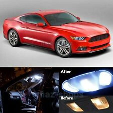 10x Pure White Auto LED Lights Interior Package Kit For 2015 Ford Mustang MP