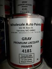 High Build Premium Acrylic Lacquer Primer Gray Quart, Fast Dry, Easy Sanding 1K