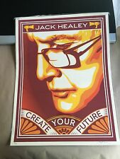 "Shepard Fairey Obey Jack Healey Signed Numbered 18""X24"" Rare  Ed #/100"