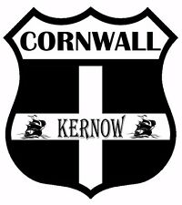 1 x Cornwall Kernow Flag Decal Car Motorbike Laptop Window Sticker Static Cling