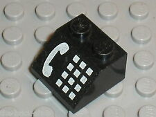 LEGO black slope brick phone ref 3039p12 / Set 4554 6549 2150 2881 4555 ...
