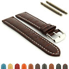Mens Genuine Leather Watch Strap Band Croco RM S.Steel Buckle and Spring Bars