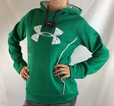 Under Armour Women's Fleece Sweater Hoodie Green Size M