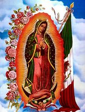 "3.25"" Vintage style OUR LADY VIRGIN OF GUADALUPE Sticker / Decal. Catholic Angel"