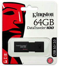 KINGSTON PENDRIVE USB 3.0 64GB CHIAVETTA PENNA 64 GB CHIAVE FLASH