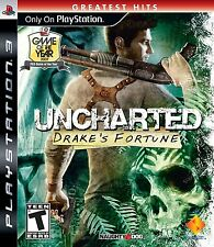 Uncharted Drake's Fortune PS3 Sony Playstation 3 Brand New Sealed Fast Shipping