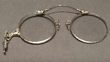 Antique 14k White Gold Lorgnette Folding Opera GLASSES