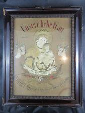 Gobelin mit Celluloid Bild - Unser liebe Frau