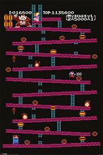 "Donky Kong POSTER ""Classic Computer Console Game"" NEW Licensed"