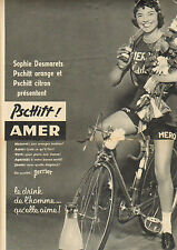 Publicité Advertising 1953 ( Double page )  Sophie Desmarets Pschitt PERRIER