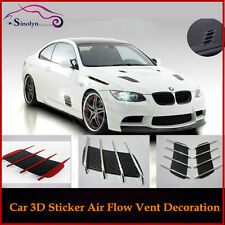 Universal Fit DIY 3D Car Air Flow Vent Fender Side Door Decals Stickers ( 2PCS )