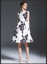 Top Selling White Black Western Digital Printed Dress For Girl Women Sevenfold