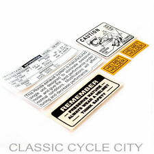 Honda CB 500 Four K0-K2 Warnhinweise Aufkleber Set Warnaufkleber Caution Decals