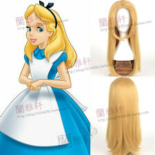 Cos Wig Alice In Wonderland Fashion Golden Long Straight Cosplay Wigs
