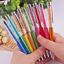5pcs/lot Top diamond cute slim crystal pens rhinestone pens metal ballpoint pens