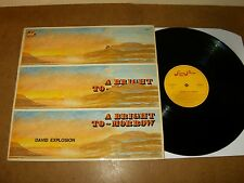DAVID EXPLOSION : A BRIGHT TO MORROW - RARE LP BELGIUM 1971 - SUGAR PLUM records