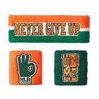 New WWE John Cena 15X Never give up Throwback Headband Wristbands Sweatbands Set